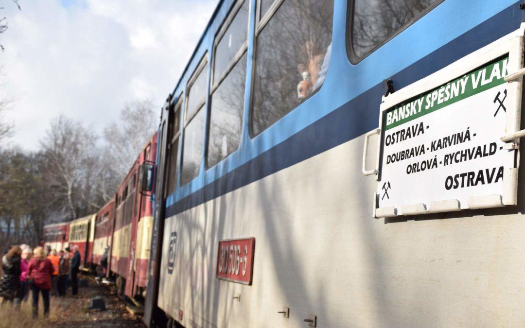 Mimořádným báňským vlakem po ostravsko-karvinském revíru